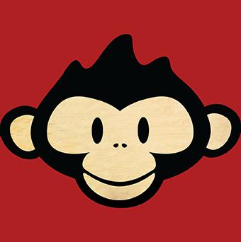 Scimmia Sfondo Rosso Drake Pub